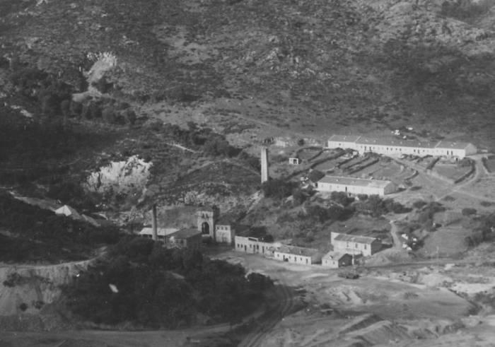 La miniera di Piccalinna in una foto d'archivio