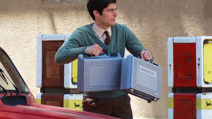 Lino Guanciale durante le riprese di Happy Days Motel