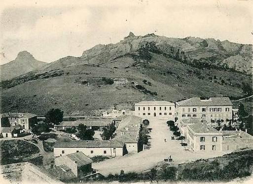 Montevecchio in una foto d'epoca